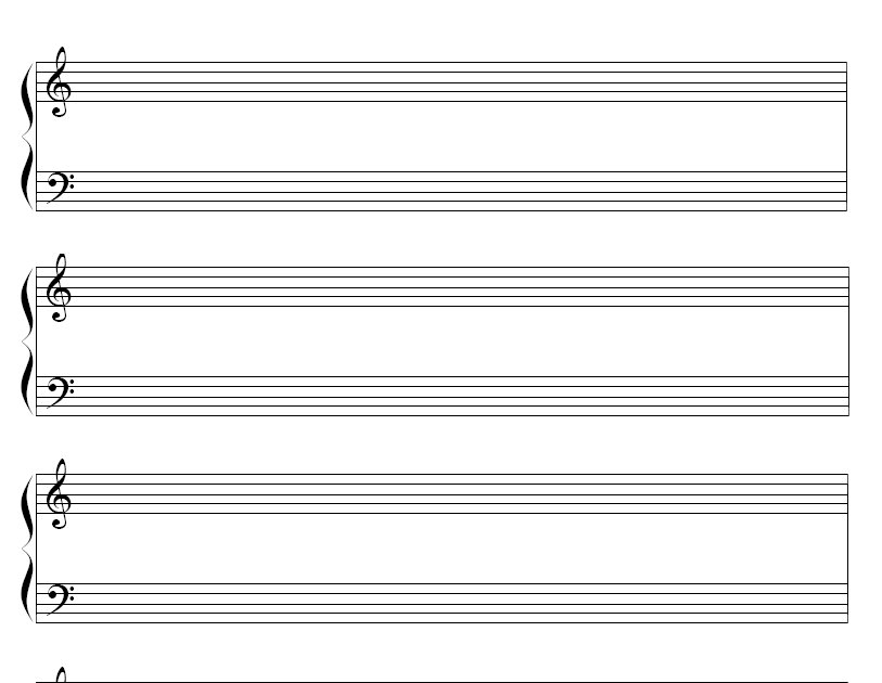 Blank Piano Sheet Music With Measures Download
