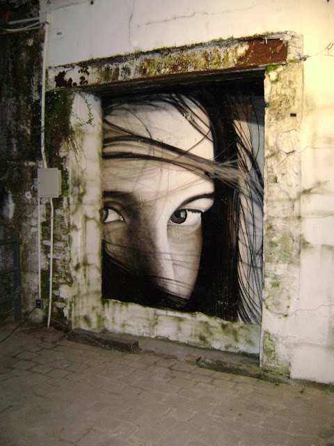 graffiti fotorealismo de izak en valdivia, chile