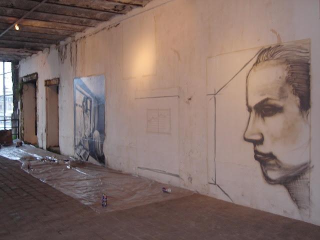 proceso de graffiti de izak en valdivia, chile