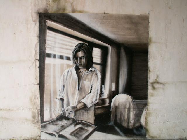 graffiti de izak en valdivia, chile