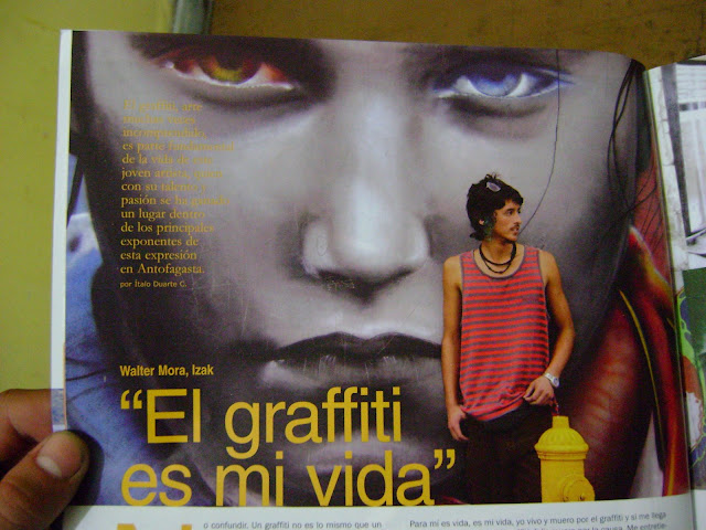 izak grafitero chileno, revista tell, antofagasta, chile