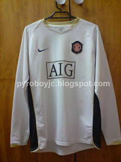 my jersey collection manchester united 2006 2007 away jersey my jersey collection blogger