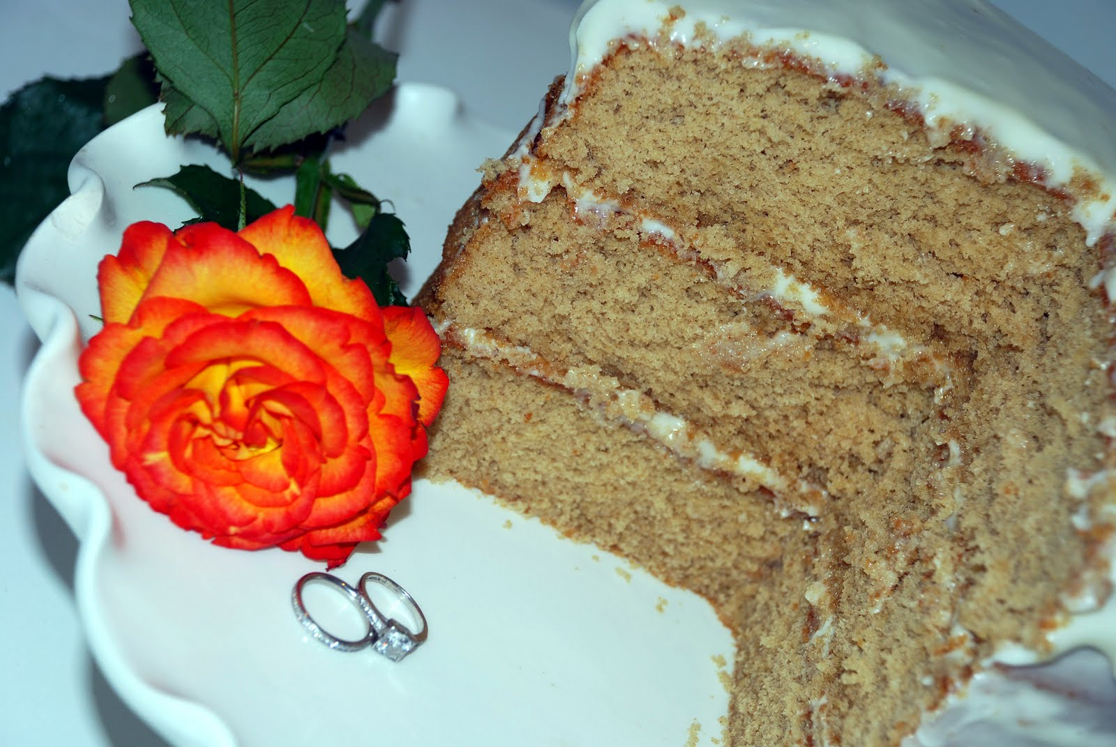 Chai Cake With Honey Ginger Frosting