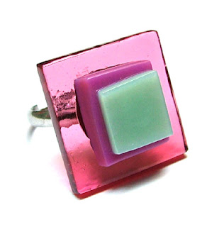 Fused Glass Ring By Steph Jones