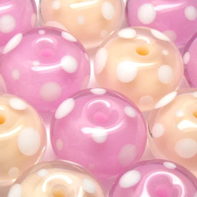 Dotty Lampwork Glass Beads