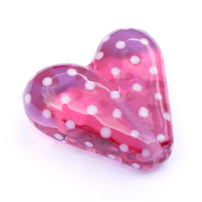 Lampwork Glass Heart Bead