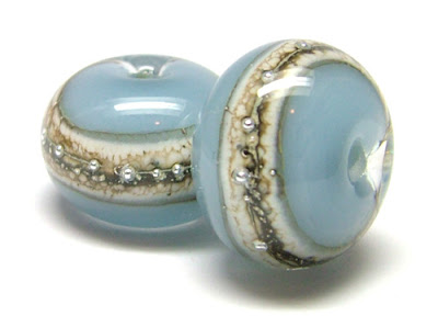Lampwork Glass Bead Pair