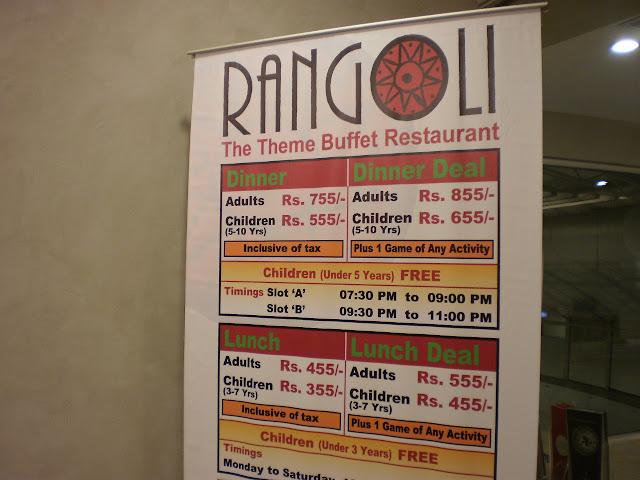 Rangoli Restaurant Menu Price