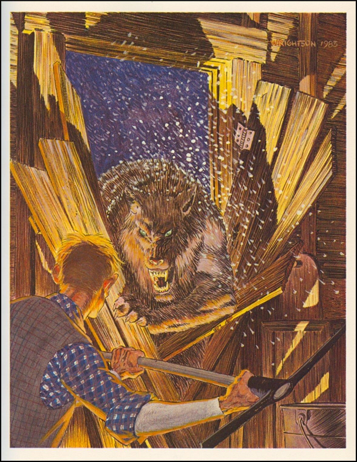 Bernie Wrightson werewolf art 1
