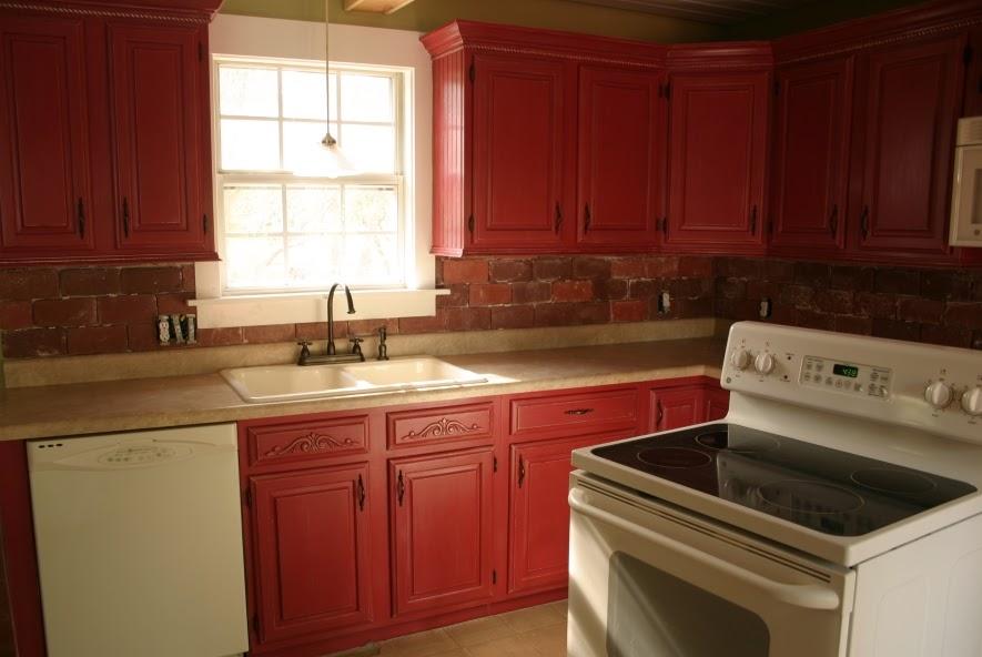 Twice Remembered Brick Backsplash For Cottage Kitchen