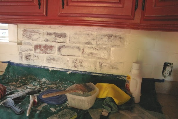 Twice remembered partially removing paint from brick backsplash what a mess - Removing paint from bricks exterior set ...