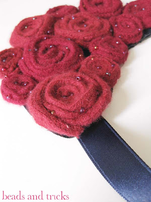 collana rose feltro