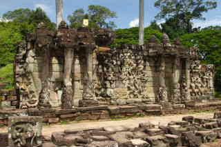 Camboya Camboya Angkor Wat Terraza De Los Elefantes