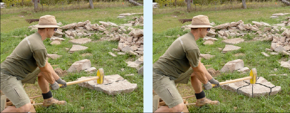 how to break a rock with a sledgehammer