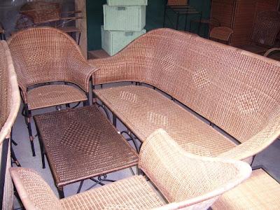 Muebles En Mimbre Juegos De Terraza