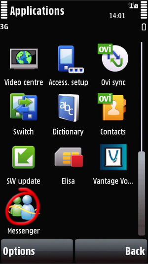 Mobile chat interface including MSN, AOL, ICQ, Yahoo! and Jabber