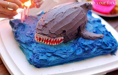 Birthday Cakes Zumbo ~ Kid eats shark: a shark birthday cake for master three grab your