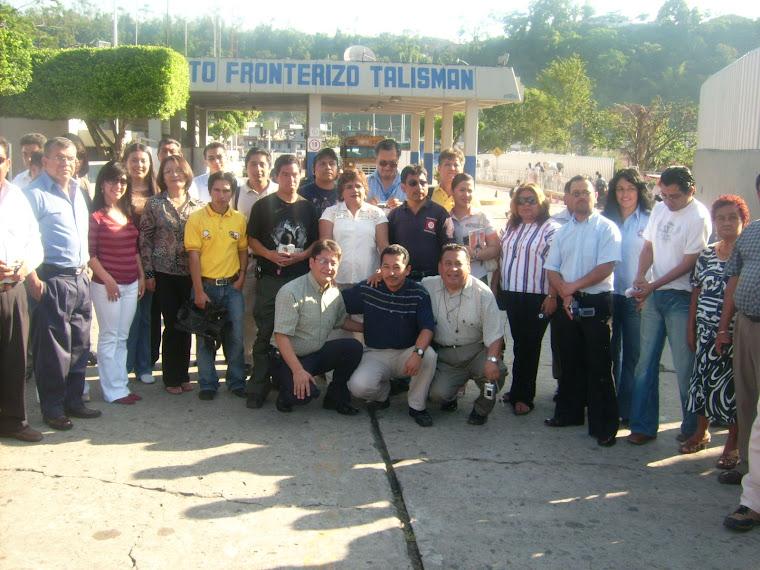 Calida Bienvenida de Periodistas Chiapanecos a Periodistas de guatemala