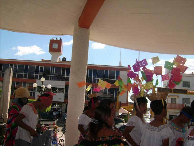El recibimiento con Chiapanecas, Parachicos y Chuntaes en Tonalá