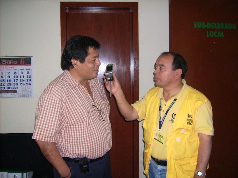 La entrevista para Emisoras Unidas.