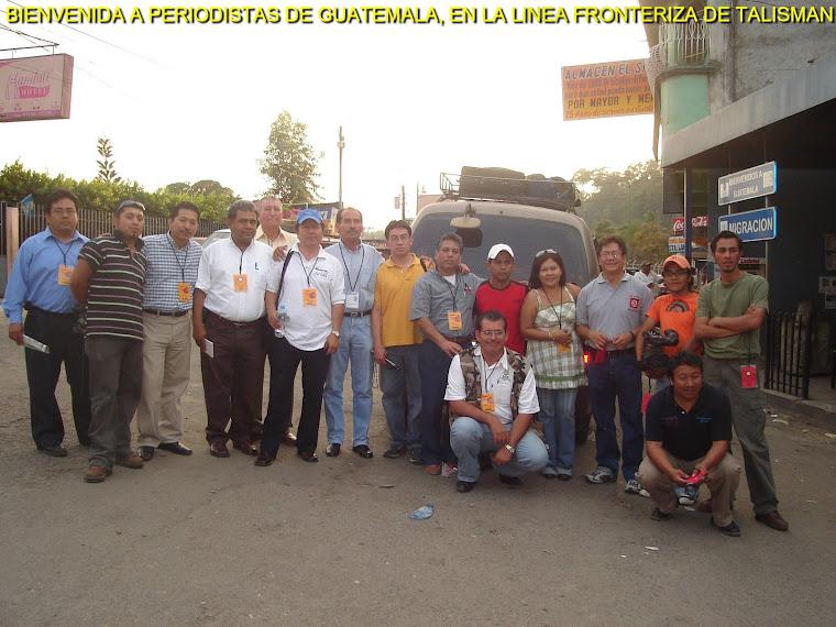 Recibimiento de Periodistas de San Marcos Guatemala