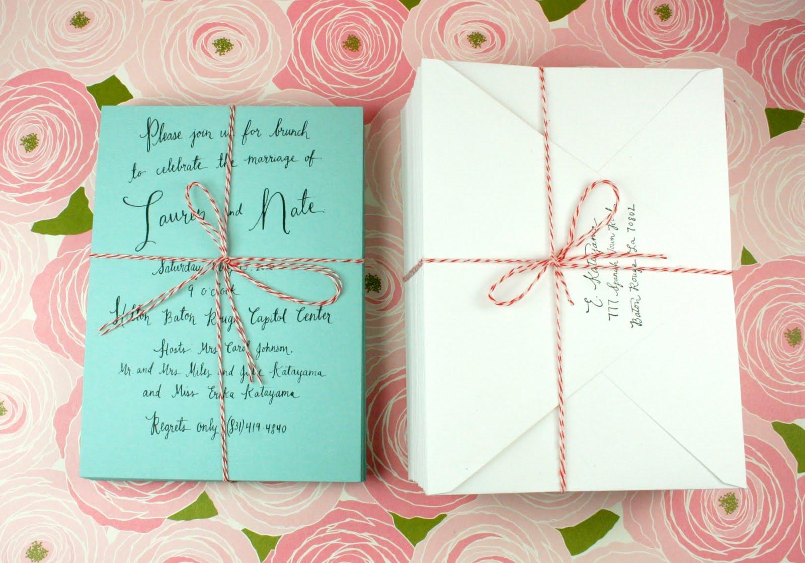 Post Wedding Brunch Invitation Wording: Paper Pastries: Wedding Brunch Invite