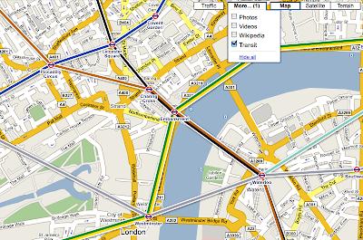google my maps transit layer