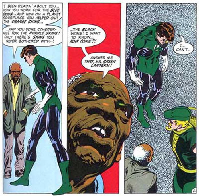 green lantern and green arrow facing their superhero reality