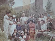 Bisabuelo Vicente Vizcarra con hijos, yernos (as) nietos y bisnietos en Huaro, marzo1963.
