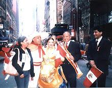 Desfile del Corzo peruano en el dia de la hispanidad en NY. 2005