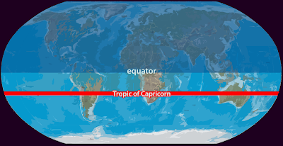 Tropic Of Capricorn On World Map.South Of The Tropic Capricorn Www Picturesso Com