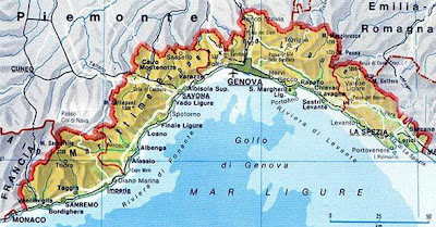 Italian Riviera Map And What Happens After the Wedding: Map of Liguria Italian Riviera