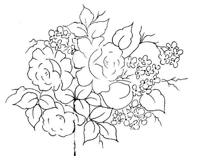 pintura em tecido risco flores pano de prato
