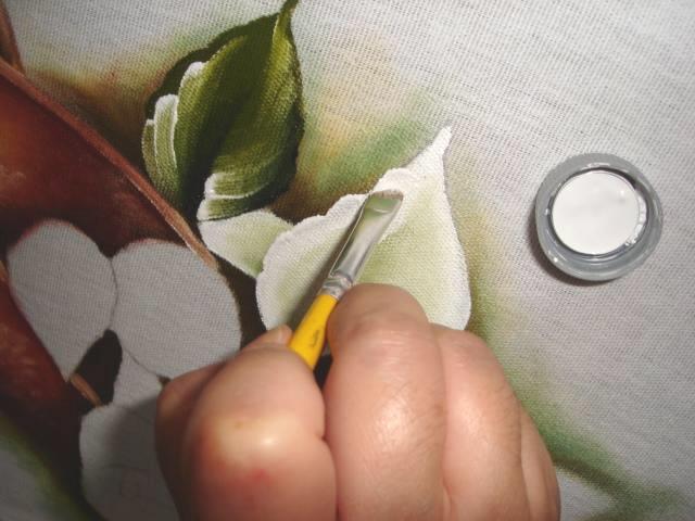 pintura em tecido flores passo a passo copos de leite