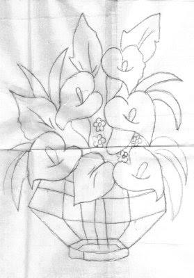 Pintura Em Tecido Riscos Desenhos Para Pintar Flores