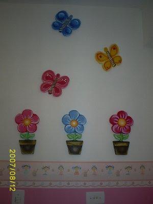 Decoração parede infantil menina