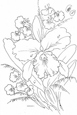 pintura em tecido flores gráfico para pintar