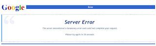 Google Server Error Message