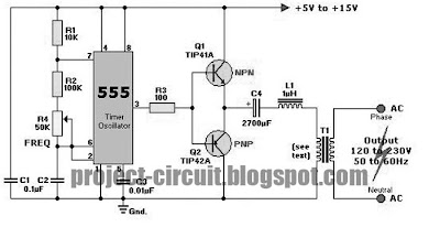 Electronics Technology: DC to AC Inverter Using 555 IC