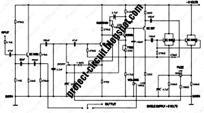 Free Project Circuit Schematic: Carlin Fuzz Compressor