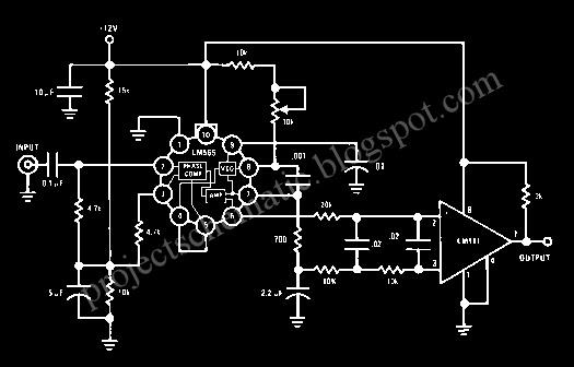 Lm565 Fsk Demodulator Circuit Design Schematic