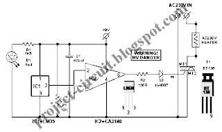 Free Project Circuit Diagram: Smart Heater Controller Circuit