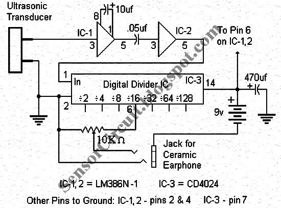 Sensor Schematic: Bat Detector Circuit