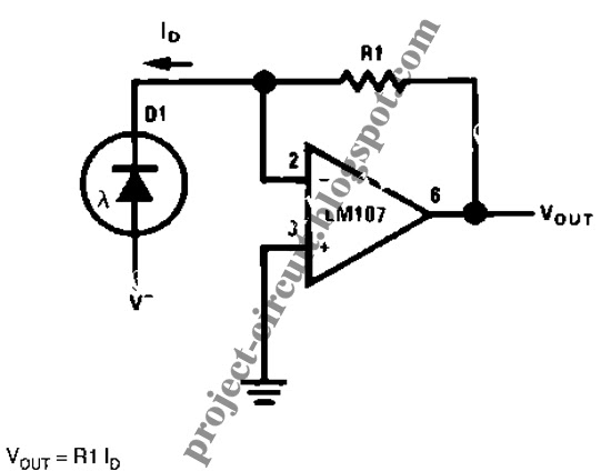 Free Project Circuit Diagram: Photodiode Amplifier Circuit