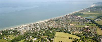 Vue de la cote depuis Villers sur Mer