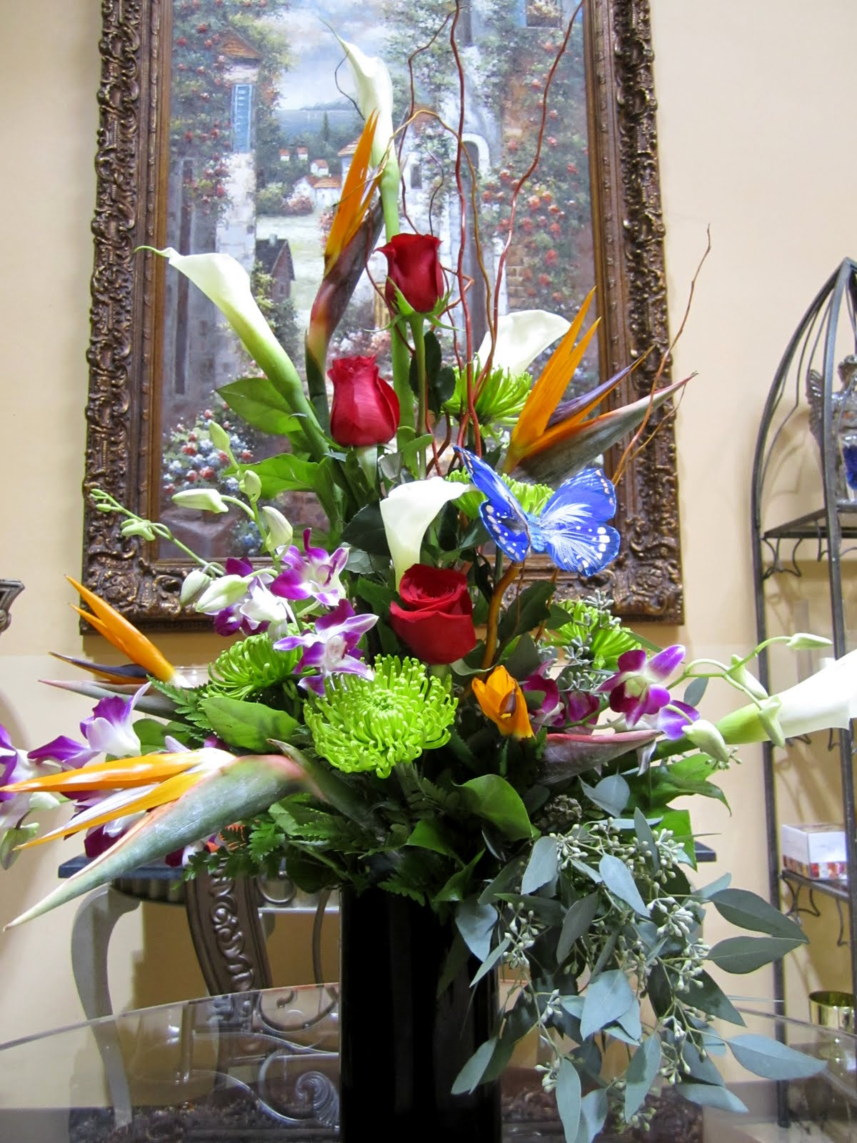 Bernardo S Flowers Masculine Flower Arrangement
