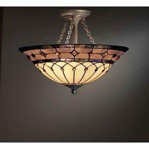 felice tiffany chandelier in imperial bronze kichler lighting 69048 3 light dunsmuir art glass semi flush ceiling light art nouveau bronze finish