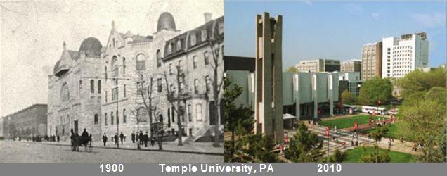 Temple University 1900 & 2010