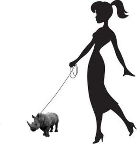 Walking the Tea Cup Rhinoceros