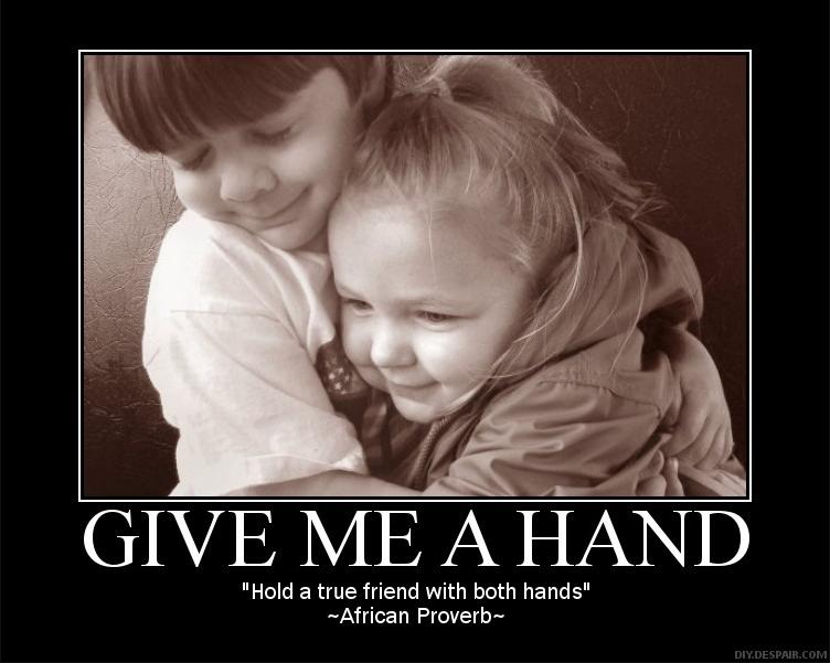 two hands to hug